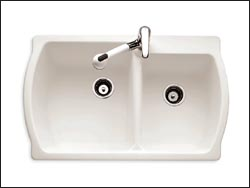 7048.001 Chandler Corian® Kitchen Sink With Center Faucet Hole. 7048.803  Chandler Corian® Kitchen Sink With 3 Faucet Holes.